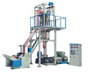 SJ Series PE Double Color Strip Film Blowing Machine Set